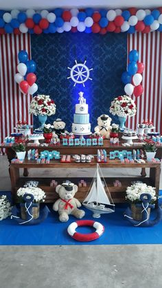 Sailor Baby Showers, Anchor Baby Showers, Star Baby Showers, Boy Baby Shower Themes, Baby Shower Favors, Baby Boy Shower, Kids Party Decorations, Baby Shower Decorations, Shower Centerpieces
