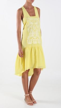 Yellow embroidered dress by Tibi