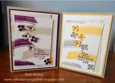 Ruth's Stamping Corner: One Card, Two Ways