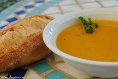 Alice im kulinarischen Wunderland: Möhrencremesuppe mit roten Linsen und Orange - Crè...