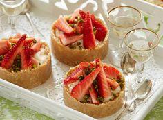 Citrontærter med jordbær