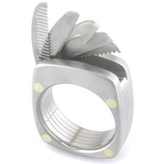 Titanium Utility Ring: This is one of the most unique rings ever produced. Crafted from aerospace grade titanium, it is a comfortable and smart looking ring. Hidden inside is an assortment of useful tools. It has a working bottle opener, a straight blade perfect for cutting packing tape or fishing line, a serrated blade for tougher things like nylon strapping or those tough to open electronics heat sealed packages, a saw for cutting plastic and wood, and it has a comb!
