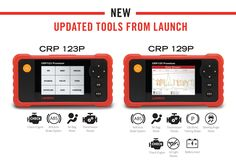The Code Reader Professional. Premium Edition (#LaunchTech CRP129 Premium) is the most up-to-date vehicle fault diagnosis tool in Launch's line of handheld diagnostic tools. Don't let its size mislead you; the #CRP129 Premium is a state-of-the-art tool and with innovative new designs in both its hardware and software it is one of the most reliable and accessible diagnosis tools on the market today. Works with all vehicles compliant with #EOBD/#OBDII (petrol vehicles from 2001 and diesels…