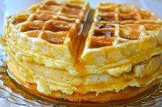 PUMPKIN WAFFLES  2-½ cups All-purpose Flour  ⅓ cups Light Brown Sugar  2-¼ teaspoons Baking Powder  1 teaspoon Baking Soda  ½ teaspoons Salt  2 teaspoons Ground Cinnamon  1 teaspoon Ground Ginger  1 teaspoon Ground Cloves  4  Eggs  1 cup Whole Milk  1 cup Buttermilk  1 cup Canned Pumpkin  6 Tbsp Melted Butter  1st bowl=sift together flour,sugar,baking powder,baking soda + spices. 2nd bowl= whisk eggs. Add milk, buttermilk,pumpkin+ butter.Whisk till smooth. Whisk in dry ingredients-till…