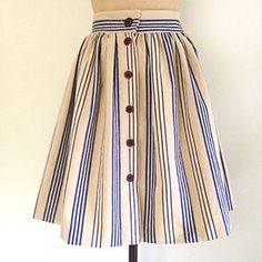 Free sewing pattern: make a button-through skirt - craft - allaboutyou.com
