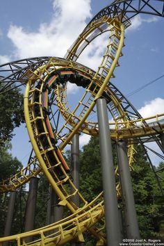 Loch Ness Monster roller coaster at Busch Gardens