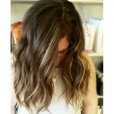 Love this color for medium length hair perfect for summer cali beach hair