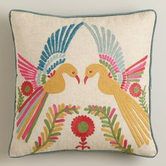 Phoenix Embroidered Throw Pillow | World Market