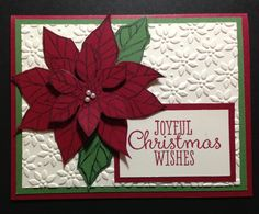 Stampin' Up Joyful Christmas.  Used Very Vanilla, Cherry Cobbler and Garden Green card stock.
