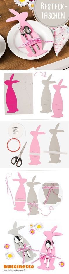 Foam rubber cutlery bags for the Easter table . - Foam rubber cutlery bags for the Easter table More - Hoppy Easter, Easter Bunny, Easter Eggs, Easter Table, Easter Party, Easter Projects, Easter Crafts, Spring Crafts, Holiday Crafts