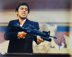 Al Pacino Scarface Signed 16X20 Photo Auto Graded Gem Mint (Green) 10! PSA/DNA #4A98758