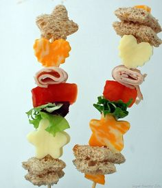 School Lunch Ideas - Shish Kabob Sandwiches