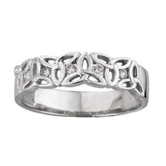 Trinity Knot Ring Celtic Symbols 14K White Gold  Diamonds Sz 5-9.5  Price : $1,379.95 http://www.biddymurphy.com/Trinity-Celtic-Symbols-White-Diamonds/dp/B00F0NMZAA