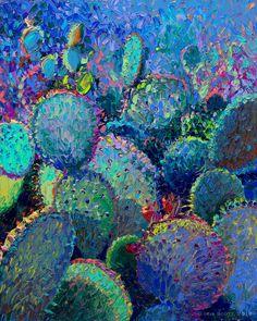 Cactus Refractus Canvas Artwork by Iris Scott Painting Inspiration, Art Inspo, Iris, Artist Painting, Painting & Drawing, Southwest Art, Impressionist Art, Finger Painting, Pretty Art
