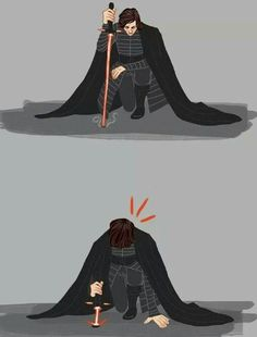 This all I think about when I see pictures of someone kneeling with a lightsaber