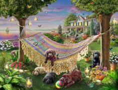 Puppies & Butterflies Sunrise/Sunset Jigsaw Puzzle