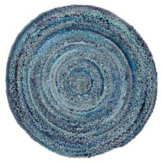 ring around the ribbon blue round rug // land of nod Girls Rugs, Kids Area Rugs, Childrens Rugs, Solid Rugs, Gold Wood, Recycled Fabric, Wood Crates, Contemporary Rugs, Woven Rug