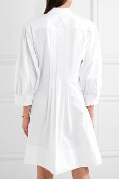 Chloé | Pleated cotton-poplin dress | NET-A-PORTER.COM