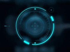 Digital unknown dribbble futuristic interface