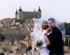 veiled couple in Toledo, Spain
