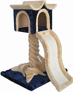 Cat Castle 36 Inch High Kitty Tree Post Bed Scratch Board Pet Play Kitten Trees
