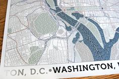 DC Typographical Map