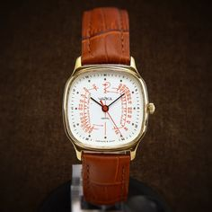 Chaika (Seagull) Very Rare Soviet Doctors Watch With Pulse Meter Scale - mens watch raketa watch medical ladies watch unisex doctors watch