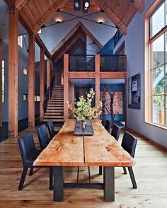 The breathtaking mountain vistas surrounding Lake Tahoe inspired WA Design to bring them inside this rustic retreat, maintaining an industrial and contemporary aesthetic that stays uniquely rooted to its environment.