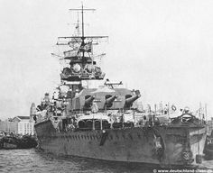 A nice stern view of Admiral Graf Spee. Notice the eagle and the Swastika on the hull. The Germans removed these symbols from their ships at the outbreak of the war, except Admiral Graf Spee that still had it when it was scuttled. This because it left Germany 21. August 1939, 12 days before the war broke out.