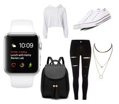 """""""Casual"""" by unicorn2006 on Polyvore featuring Monrow, River Island and Converse"""
