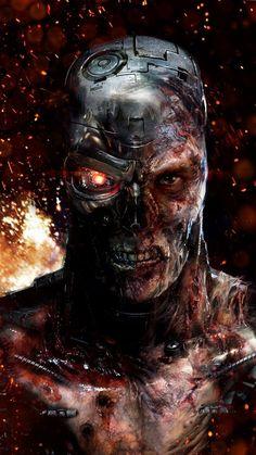 A human-looking indestructible cyborg