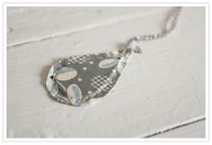 Fabric Pendant Necklaces