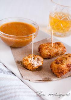 Croquetas con salsa de mejillones para la #cuestaeneroTS - Recetas fáciles y sencillas | Bea, Recetas y más