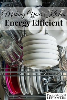 How to Make Your Kitchen Energy Efficient - Tips for making your kitchen more energy efficient, including ways to use appliances more efficiently saving you energy and money. Energy Efficient Windows, Energy Efficiency, Renewable Energy, Solar Energy, Solar Power, Wind Power, Energy Use, Save Energy, Energy Saving Tips