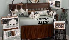 polar bear baby penguin arctic nursery crib bedding sets set nursery penguins bears eskimos igloos eskimo igloo endangered species Any indiv. Boy Nursery Bedding Sets, Crib Bedding Boy, Baby Nursery Themes, Nursery Crib, Baby Boy Rooms, Baby Boy Nurseries, Camo Bedding, Queen Bedding, Queen Quilt