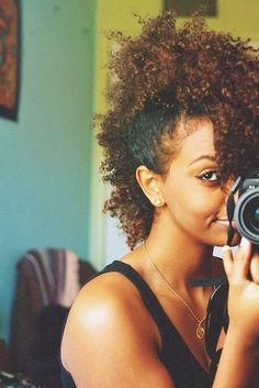 curly faux-hawk - love it!
