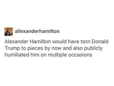 #Hamilton yes