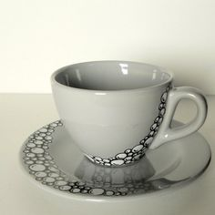 Hand painted cup & saucer set