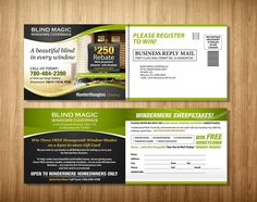 Simple 4.5x12 inch Postcard with potential of repeat business by Dzhafir