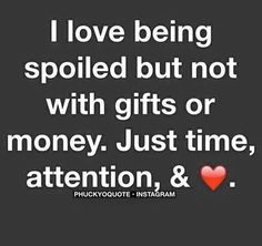 So true, but I'm lucky enough to be spoiled with all of it by an amazing man! Money can buy lots, but def not love! ❤