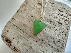 Genuine Natural Heart Shaped Green Sea by MadeByTheBaySeaGlass