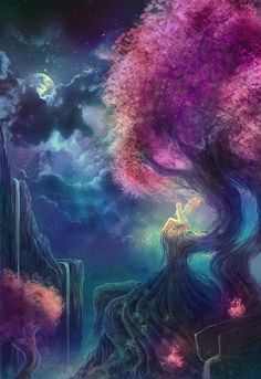 Enchantments (I always love the purples and blues in some of these fantasy illustrations.) <3