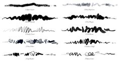 10 Photoshop Ink Brushes from GrutBrushes.comRealistic, pressure responsive ink brush tools for digital artists.