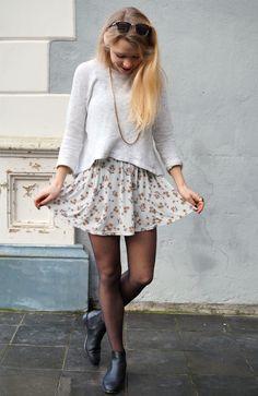 Zara jumper - Brandy Melville dress - COS chelsea boots - Primark sunnies - HEMA necklace OASAP - ring