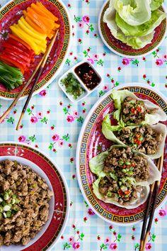 Turkey Lettuce Wraps by tartineandapronstrings #Lettuce_Wraps #Tureky #Asian #Healthy #Light
