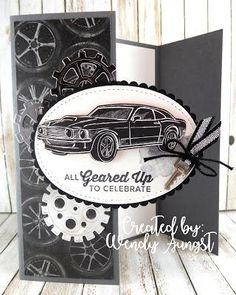 Pin By Maxine On Classic Garage Masculine Birthday Cards Pin By Maxine On Classic Garage. Masculine Birthday Cards, Birthday Cards For Men, Handmade Birthday Cards, Masculine Cards, Stampin Up, Fun Fold Cards, Folded Cards, Boy Cards, Fathers Day Cards
