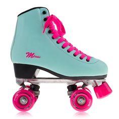 Powerslide - Melrose - Turkusowo/Różowe Roller Skate Shoes, Quad Roller Skates, Roller Derby, Roller Skating, Rolling Skate, Skate Wheels, Skater Girls, Converse Chuck Taylor, Cleats