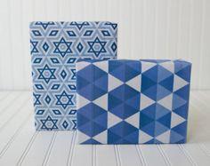 Ecofriendly Reversible Hanukkah Wrapping Paper