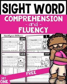 3 free pages from my Sight Word Comprehension & Fluency packet.These sight word practice pages are great for morning work, word work, literacy centers, early finishers, extra practice and much more! Send them with your students to practice at home!Each page has one sight word largely displayed at the corner, a short story that uses the specified sight word, a picture to match, two comprehension questions and space to write the sight word.