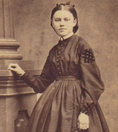 CDV TEEN-AGED GIRL CIVIL WAR ERA DRESS AND HAIR STYLE | eBay